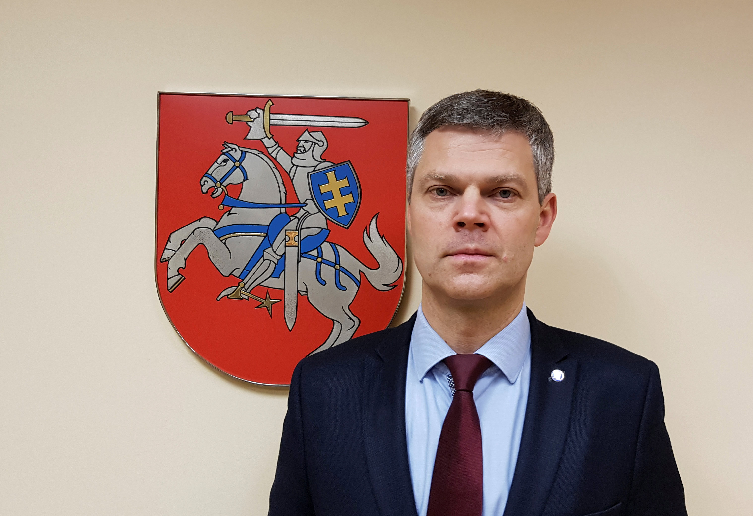 Lithuania's State Security Department director Darius Jauniskis poses for a picture in Vilnius, Lithuania,