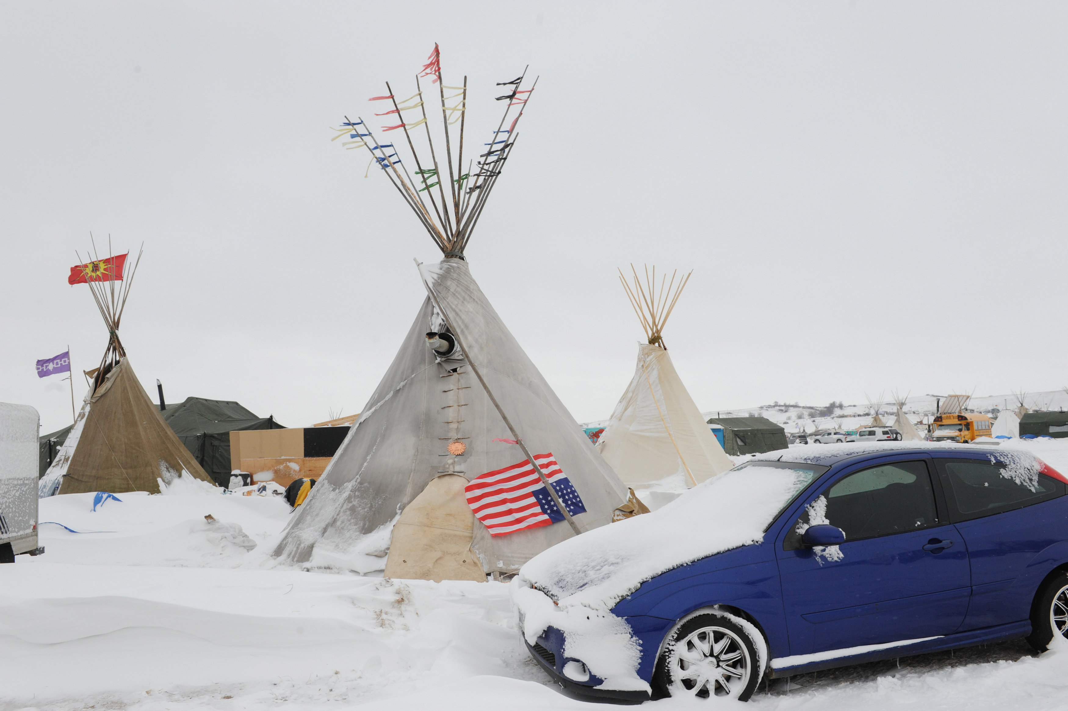 A tipi is seen in the Oceti Sakowin camp during a protest against plans to pass the Dakota Access pipeline near the Standing Rock Indian Reservation, near Cannon Ball, North Dakota,