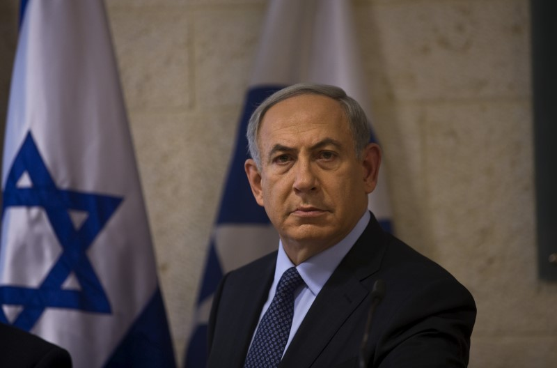 Israel's Prime Minister Benjamin Netanyahu is seen during a news conference in Jerusalem