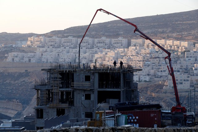 A construction site is seen in the Israeli settlement of Givat Zeev, in the occupied West Bank