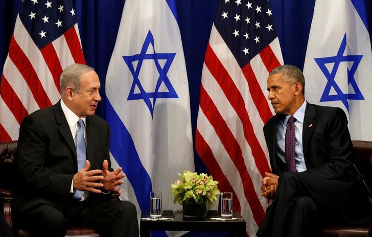 U.S. President Barack Obama meets with Israeli Prime Minister Benjamin Netanyahu in New York