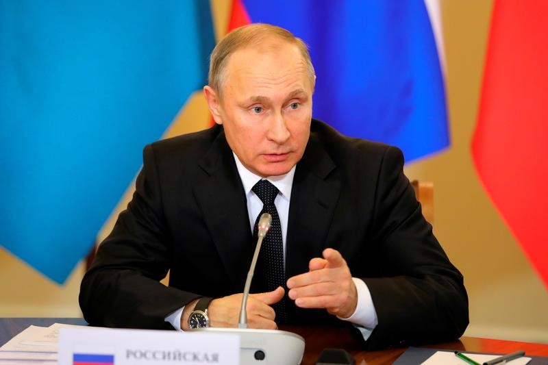 Russian President Vladimir Putin attends a session of the Collective Security Treaty Organisation (CSTO) in St. Petersburg, Russia December 26, 2016.