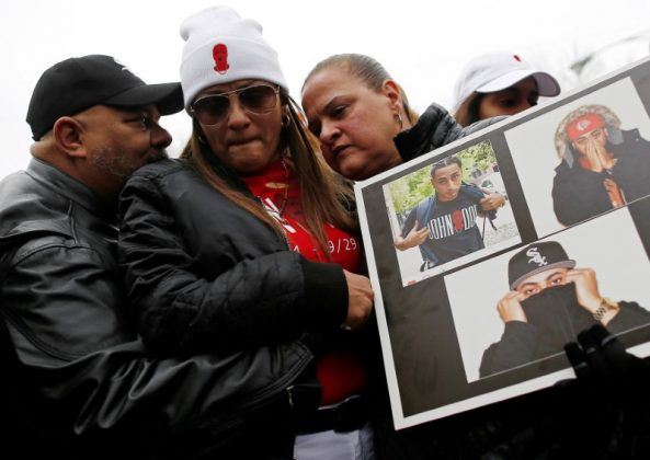 Mother cries for her son who was shot on the highway