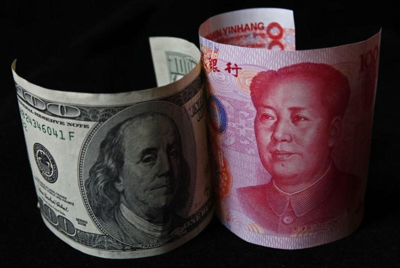 100 yuan and 100 dollars
