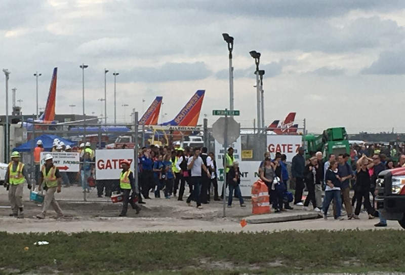 Travelers and airport workers evacuated at Ft. Lauderdale airport