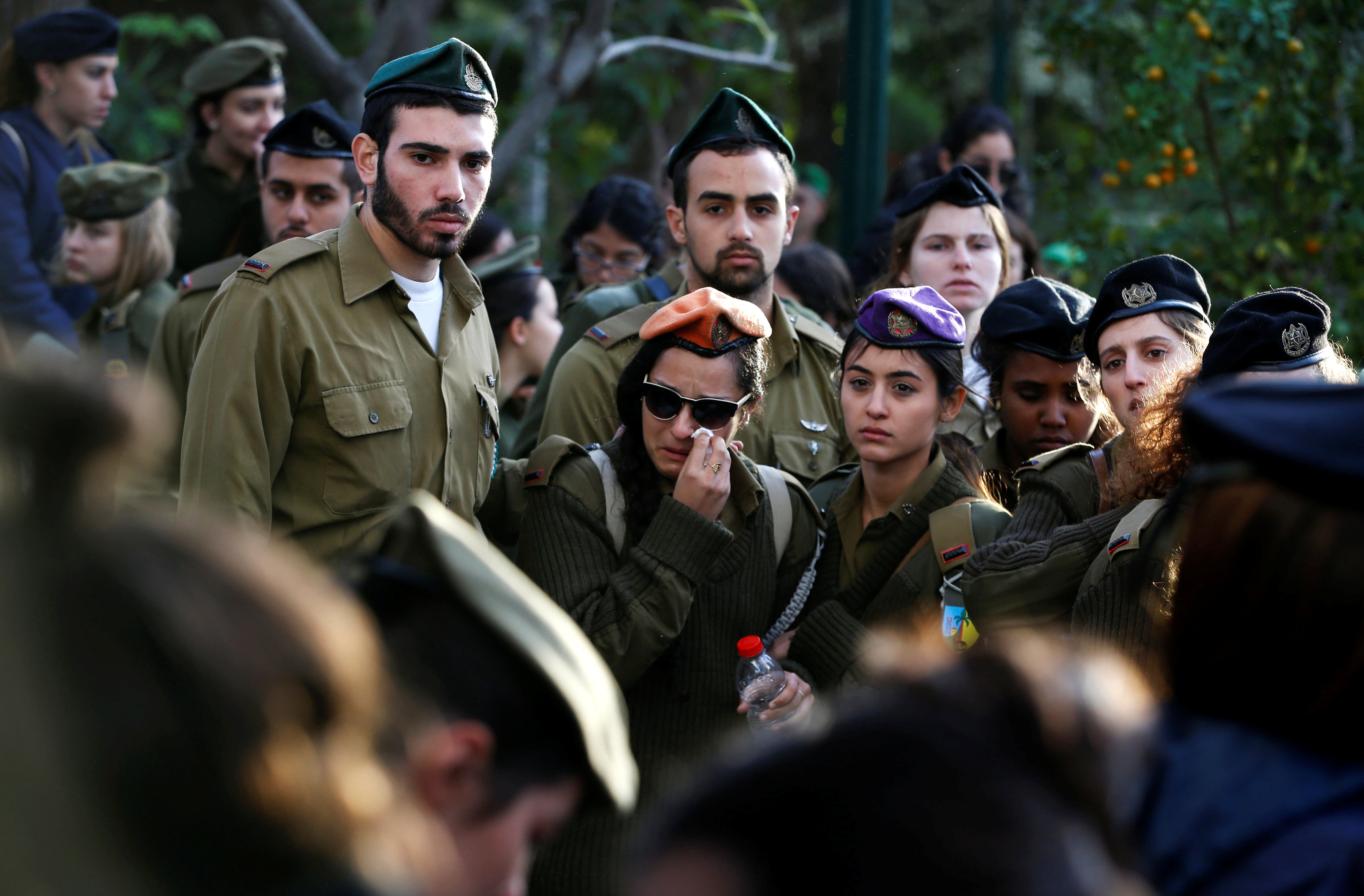 Relatives and friends mourn the death of 4 Israeli soldiers