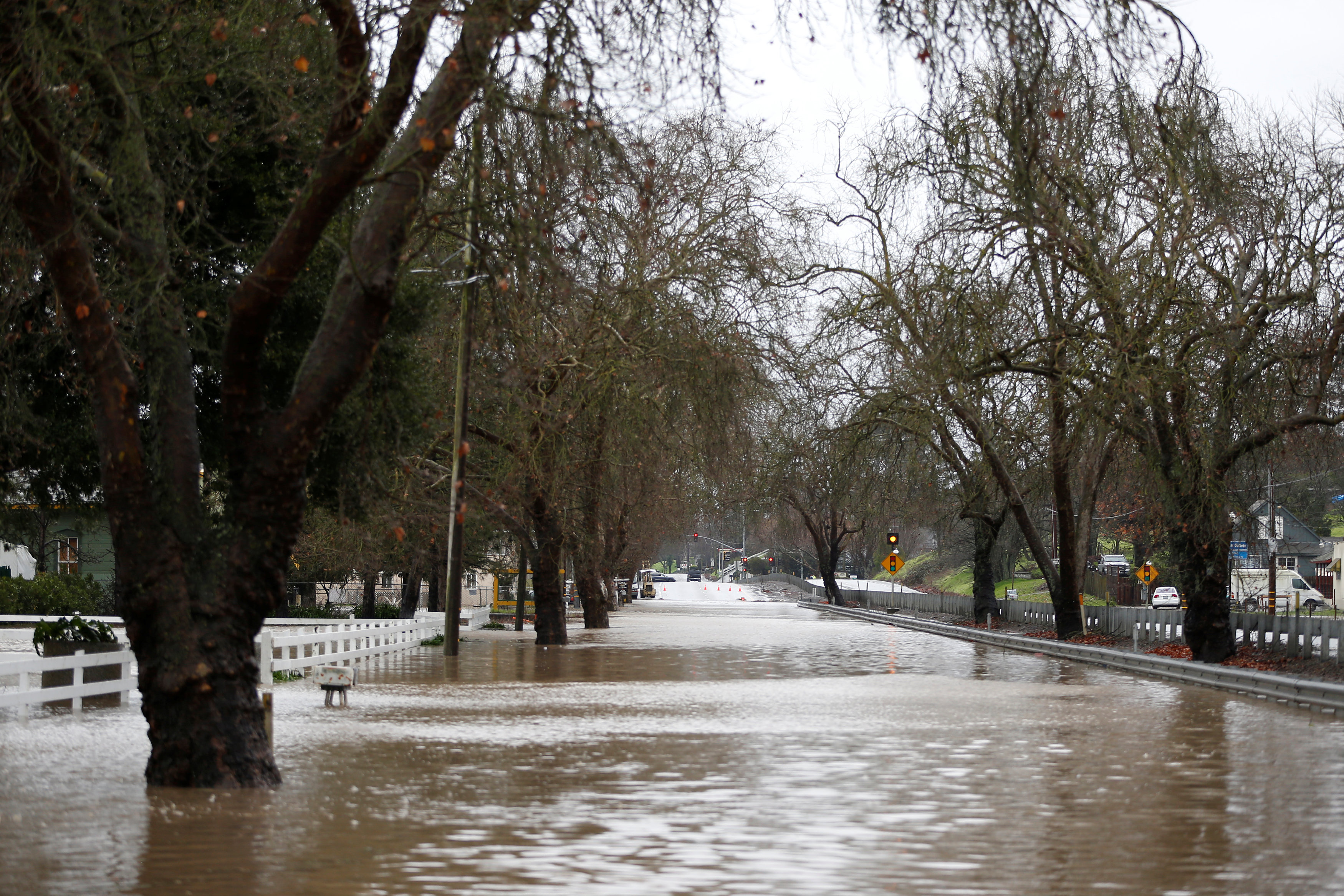 Flooded street in Calfornia