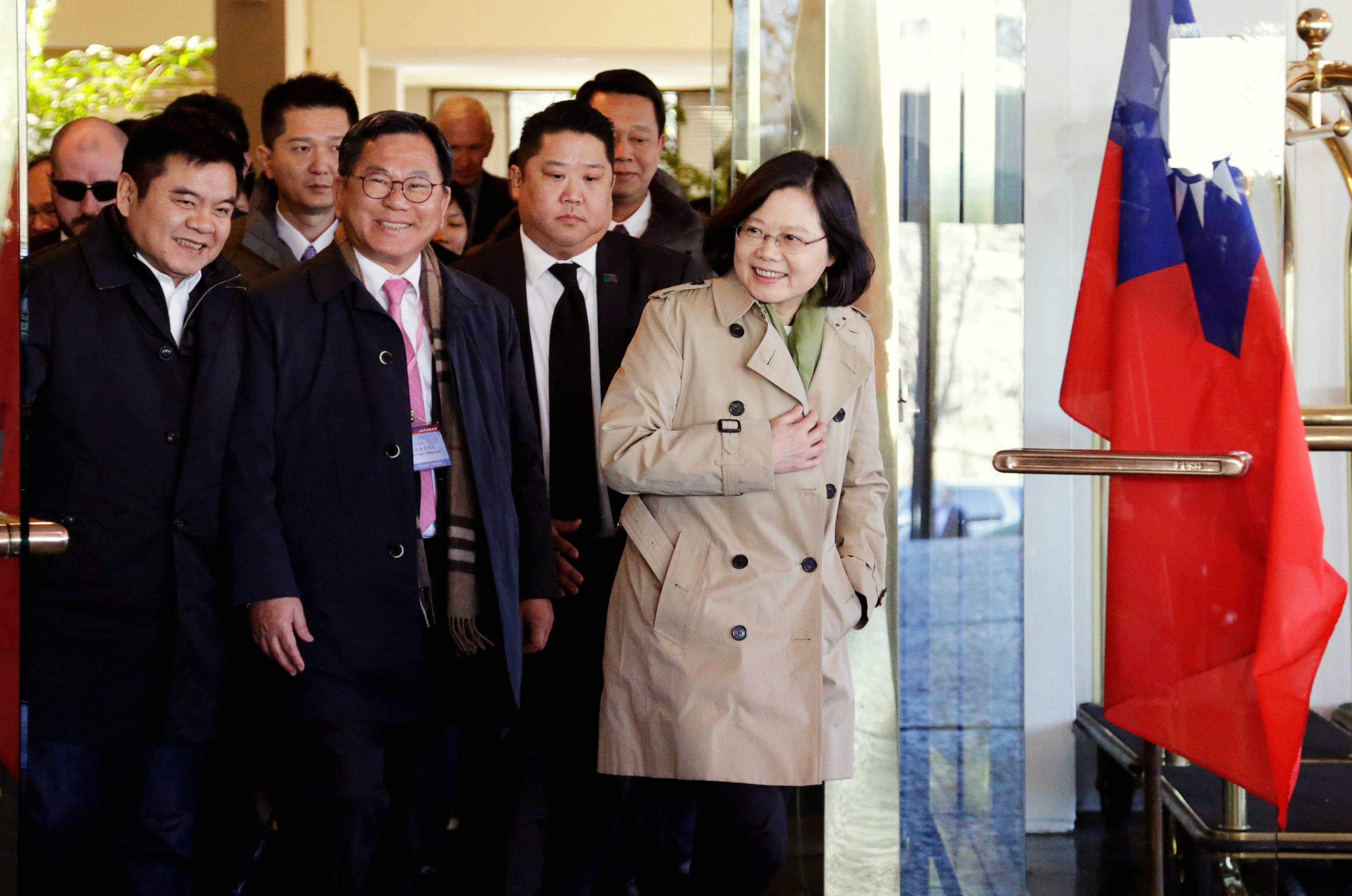 Taiwan President Tsai Ingwen visiting Texas