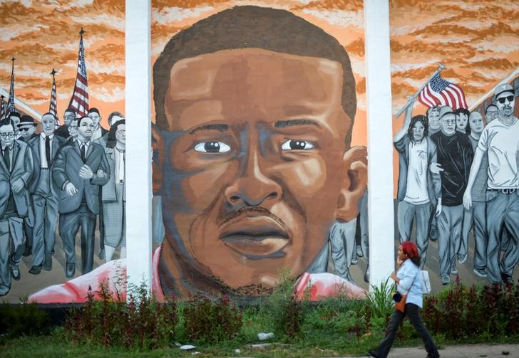 mural of late Freddie Gray in Baltimore