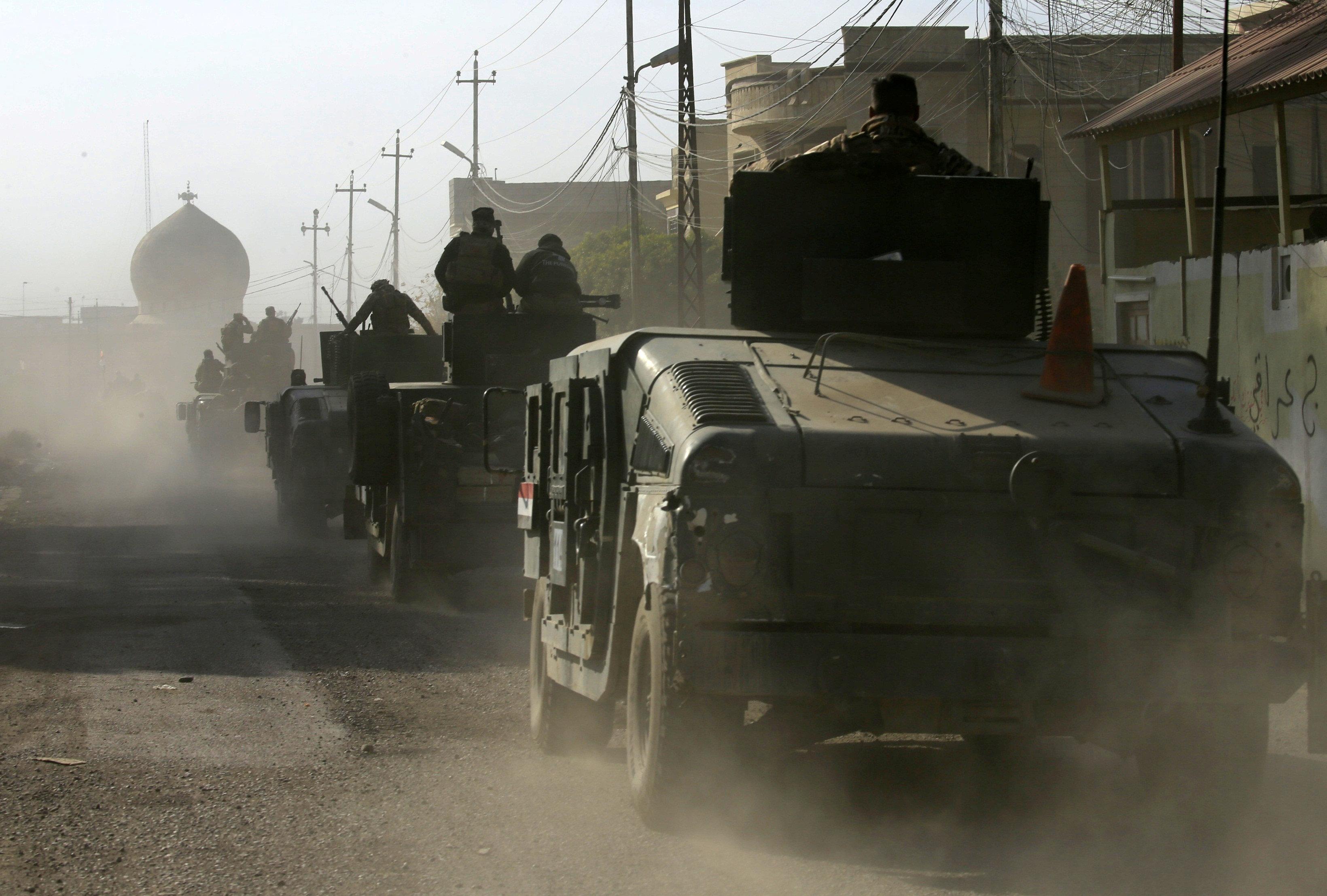 Iraqi rapid response fighting Islamic State in Mosul