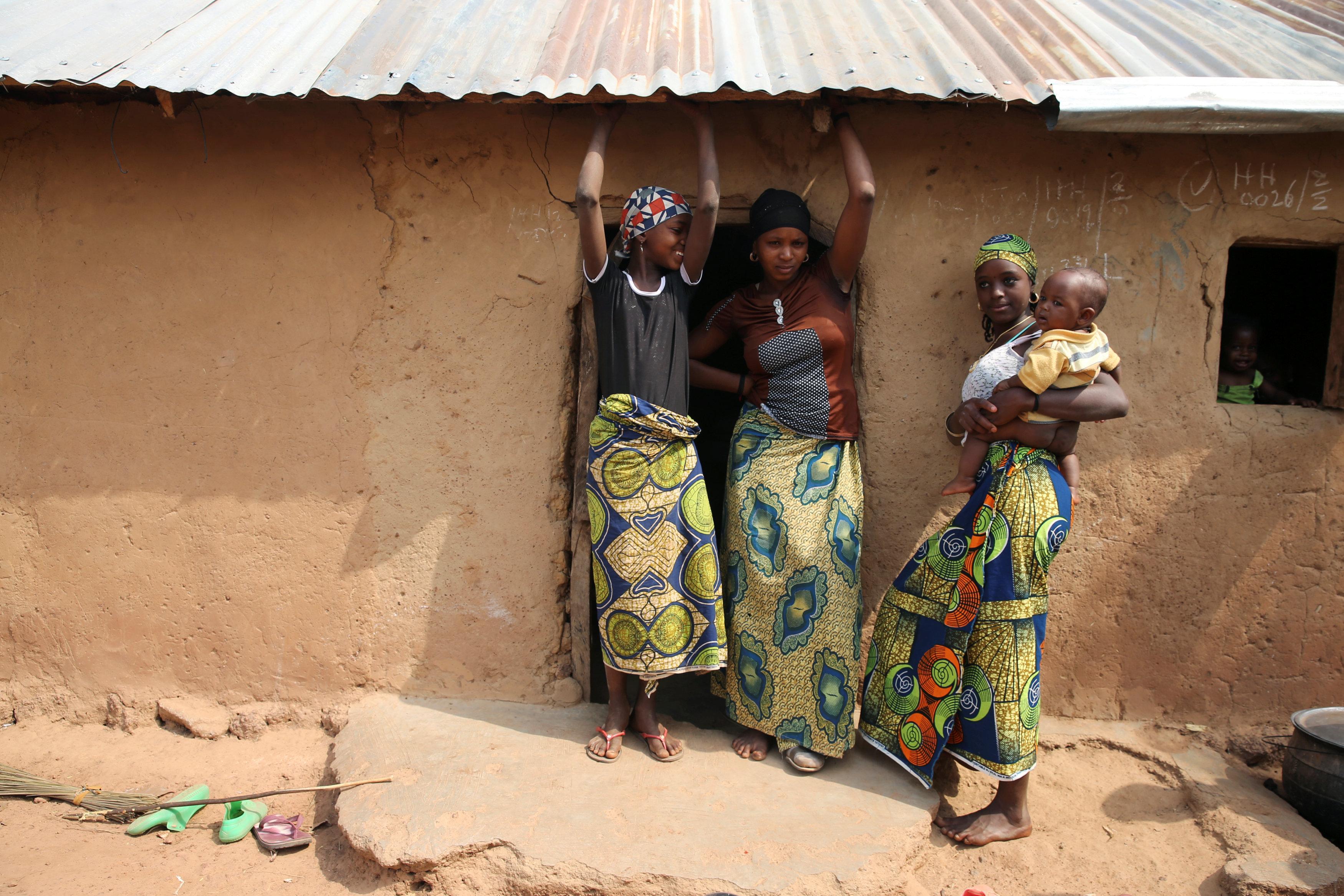 Displaced Nigeria families, fleeing from Boko Haram
