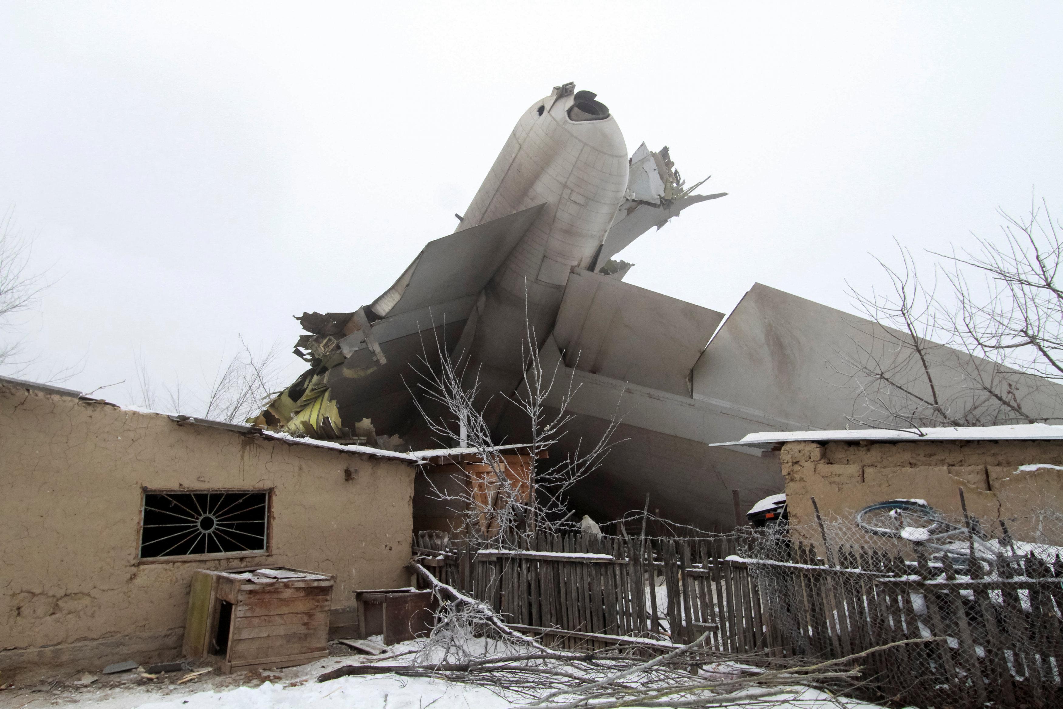 Plane debris of Turkish cargo jet crash