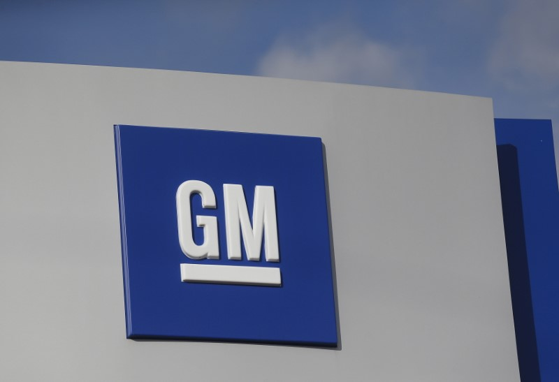 The GM logo is seen at the General Motors Warren Transmission Operations Plant i