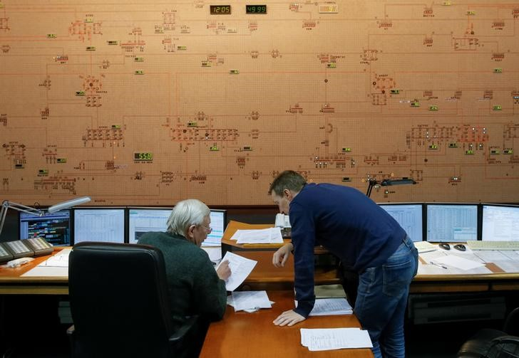 Dispatchers at Ukraine's national power company
