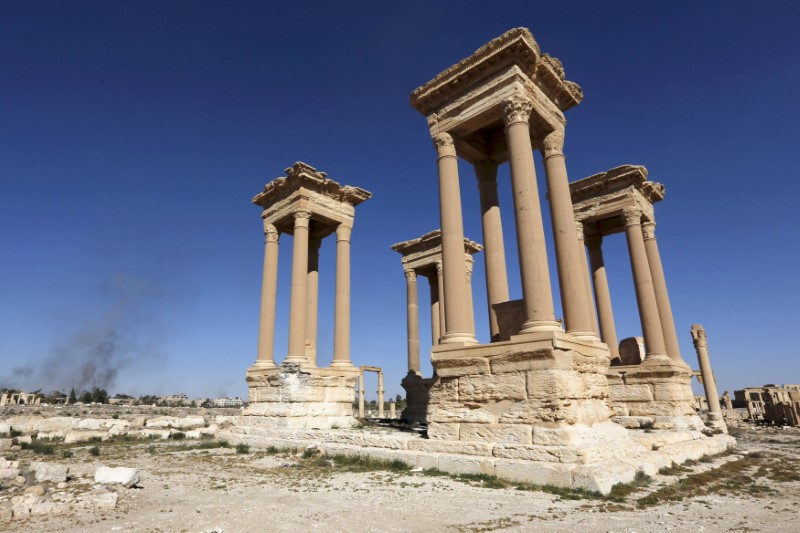 file photo of Roman theatre destroyed by Islamic State