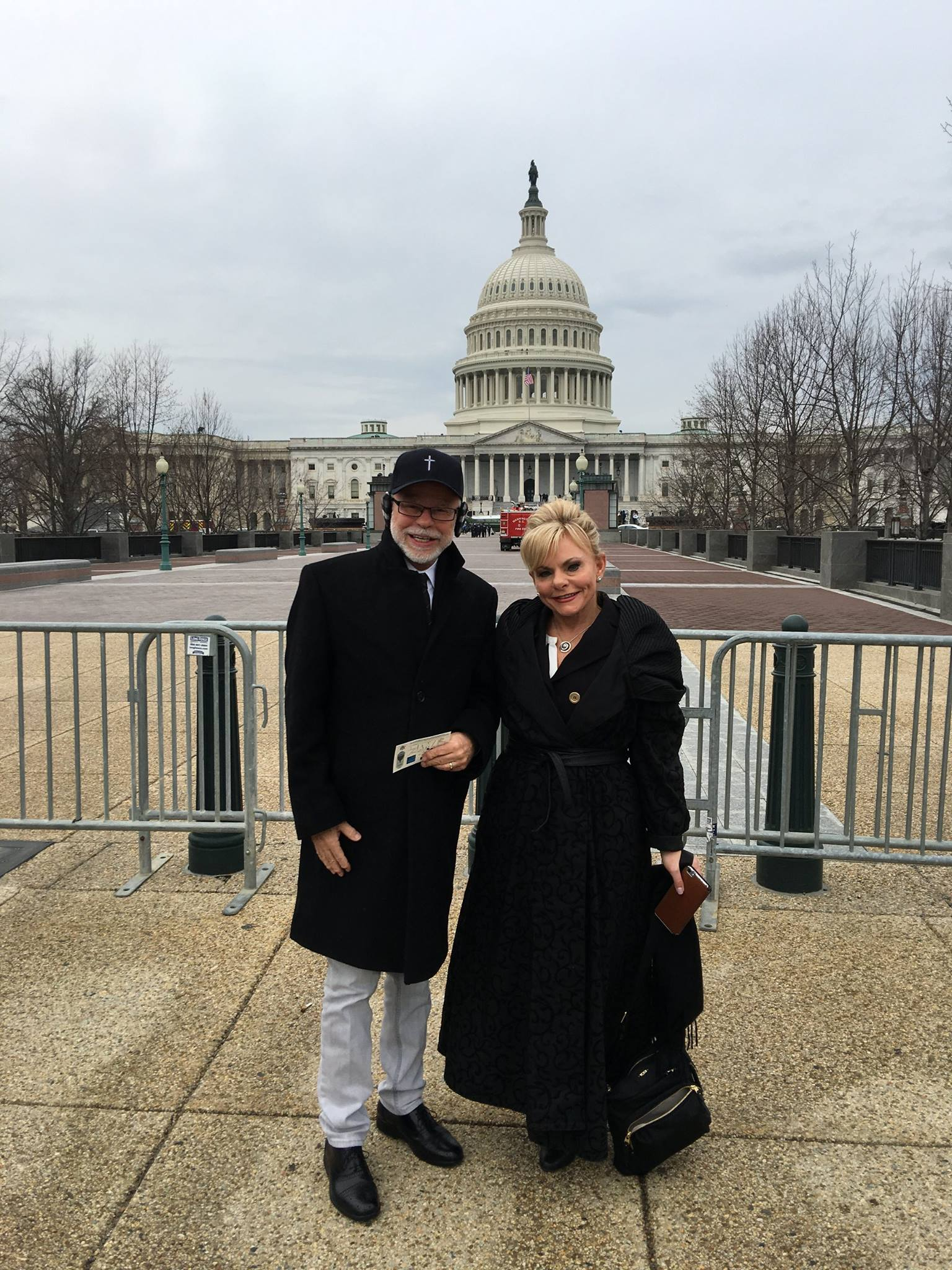 Jim And Lori Bakker at the Capitol Building in Washington D.C.