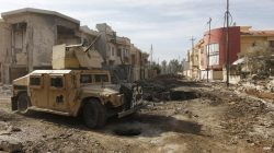 a military vehicle in the battle of mosul