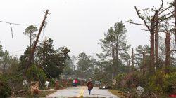 residents survey damage of tornado that struck Georgia