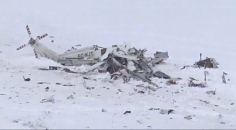 medical emergency helicopter crash in Italy