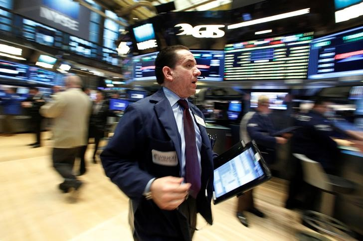 Traders working in New York Stock Exchange