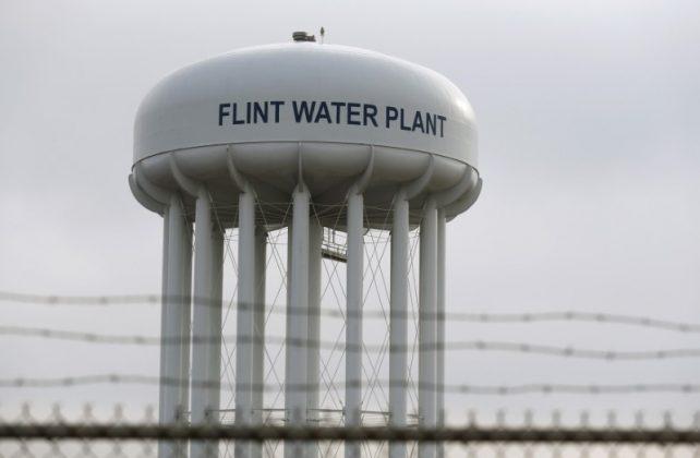 Flint Water Tower in Michigan