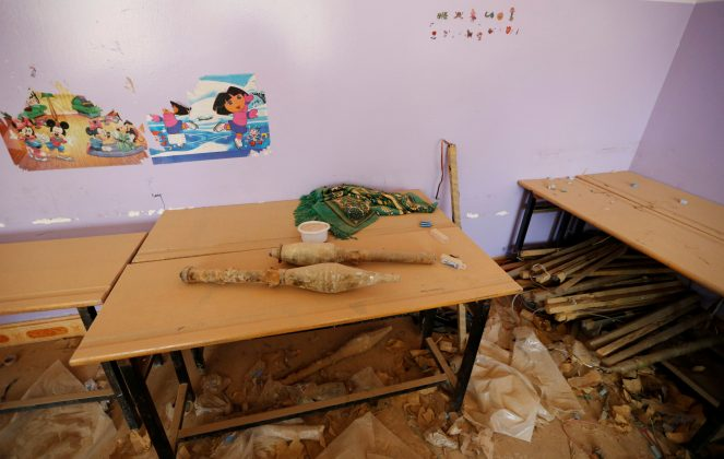 grenades left by Islamic State at children's school