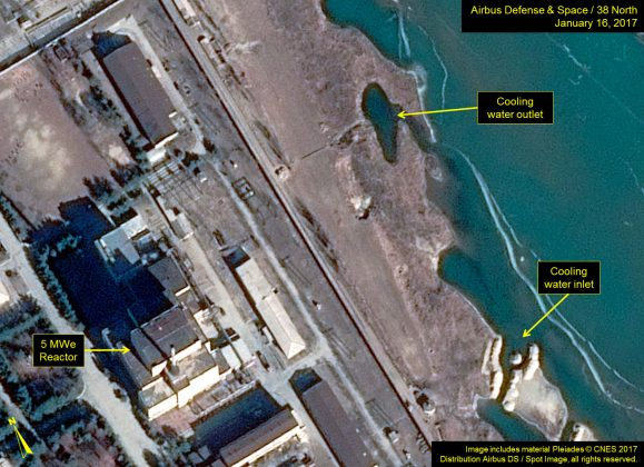 North Korea's Scientific center where they may be producing plutonium for nuclear weapons