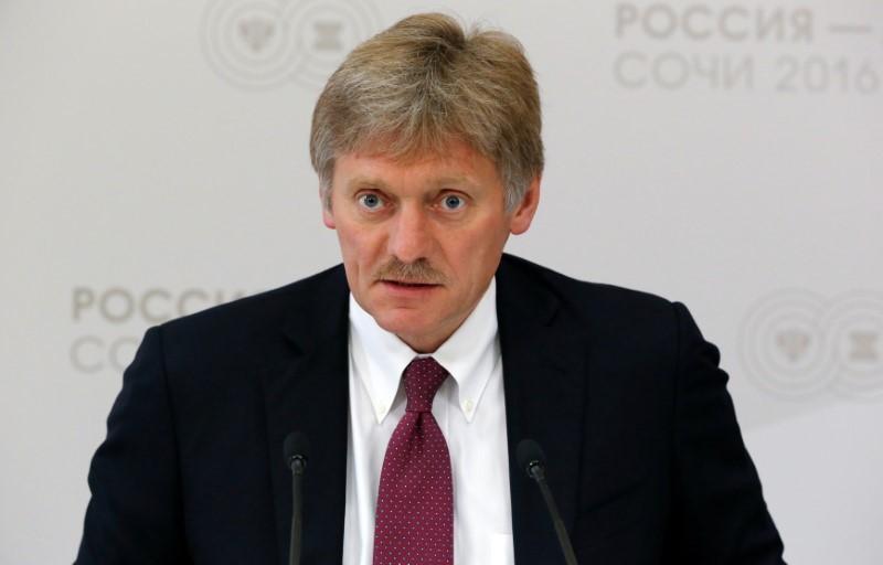Russian/Kremlin spokesman Dmitry Peskov gives news briefing on Ukraine situation