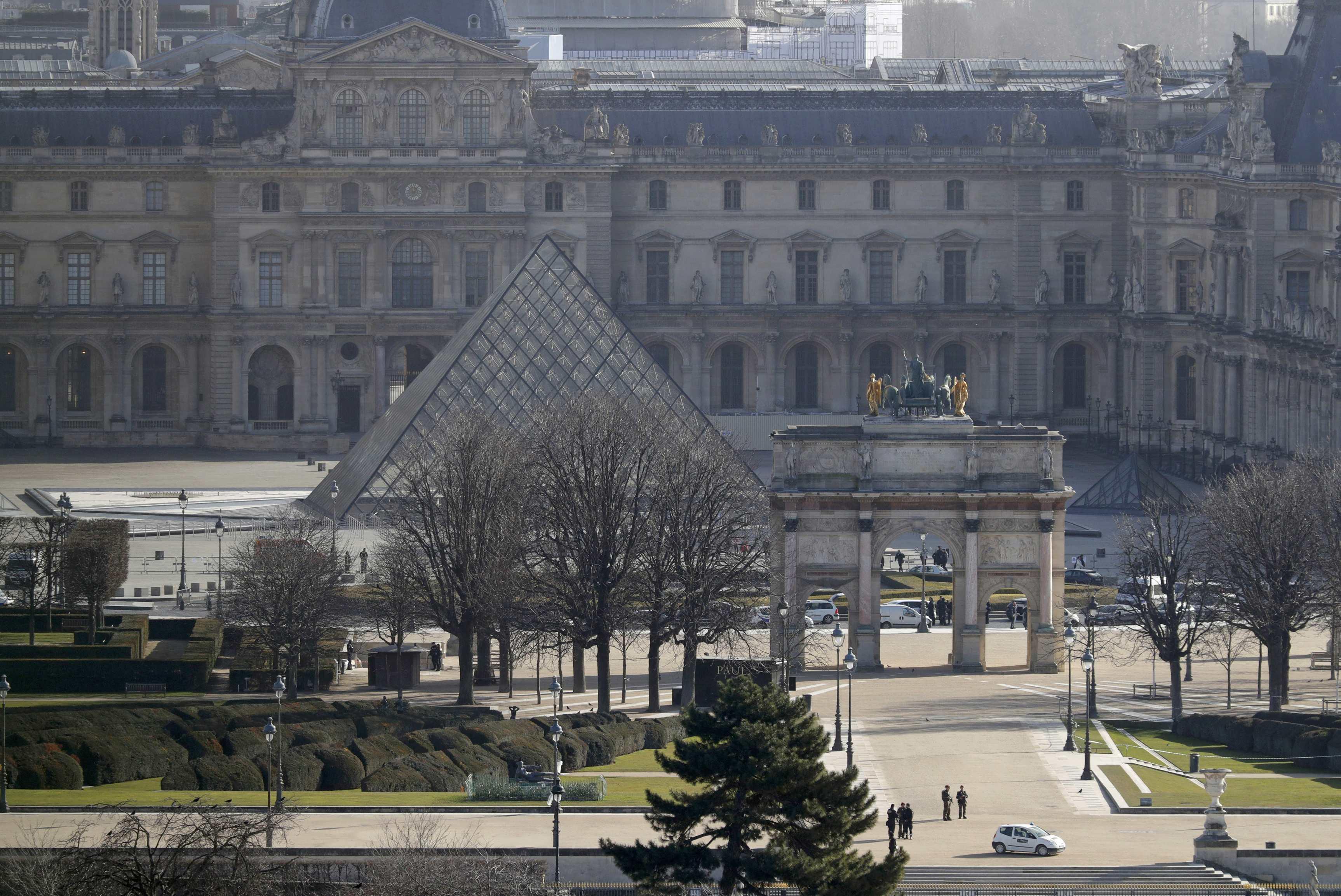 Carrousel du Louvre in Paris, sight of recent terrorist attack attempt