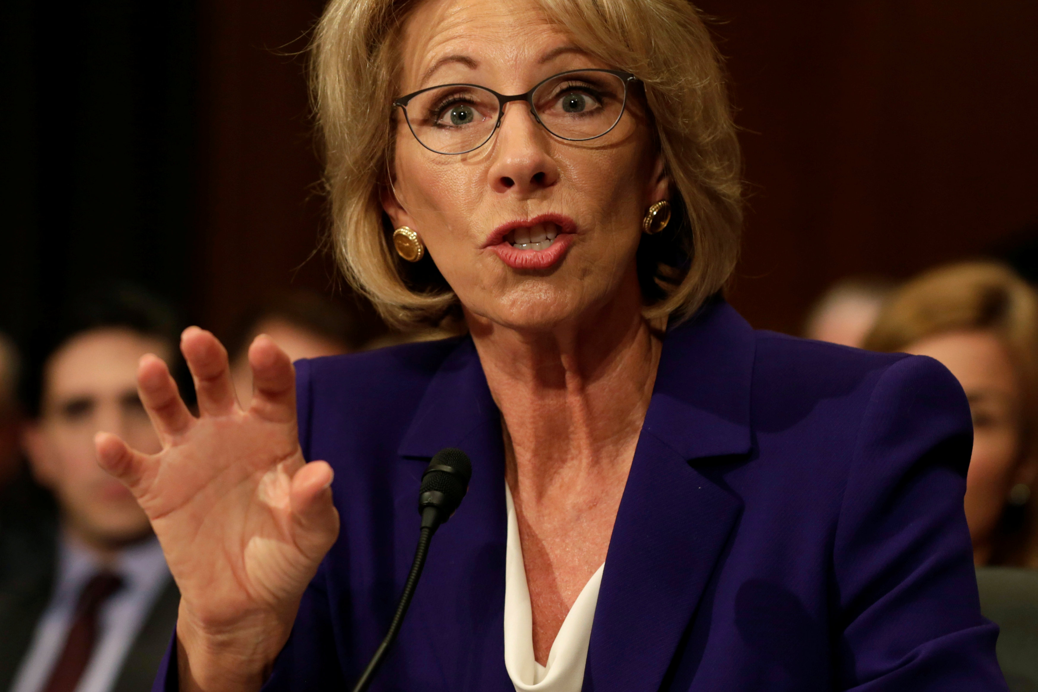 Betsy DeVos testifies before the Senate Health, Education and Labor Committee confirmation hearing to be next Secretary of Education o