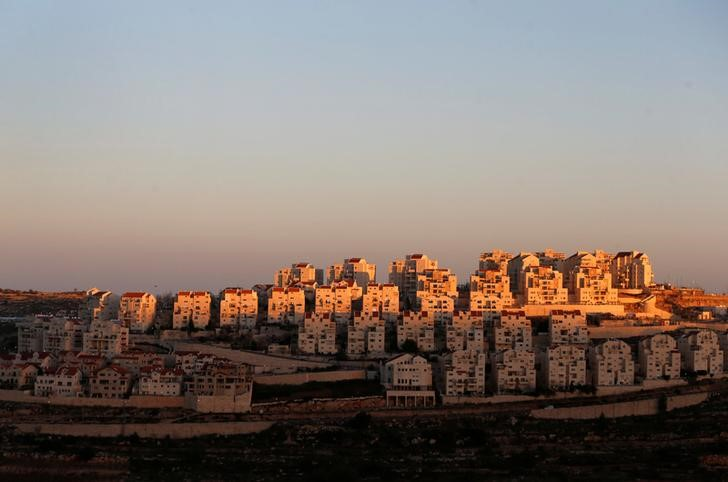 view of houses in Israeli settlement in West Bank