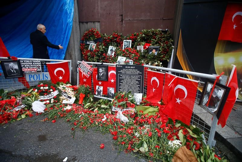 memorial for those killed in Turkey nigh club attack