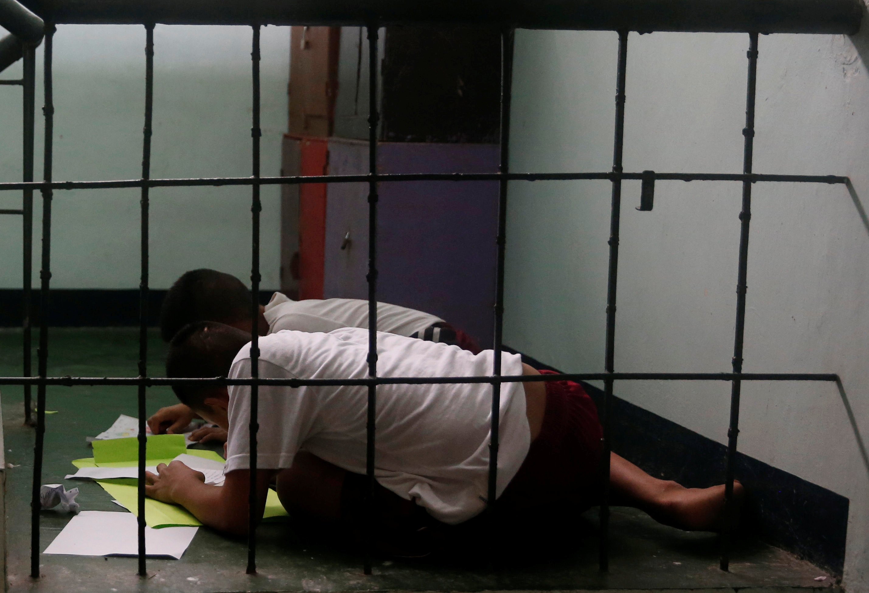 boys undergoing drug rehabilitation in Philippines