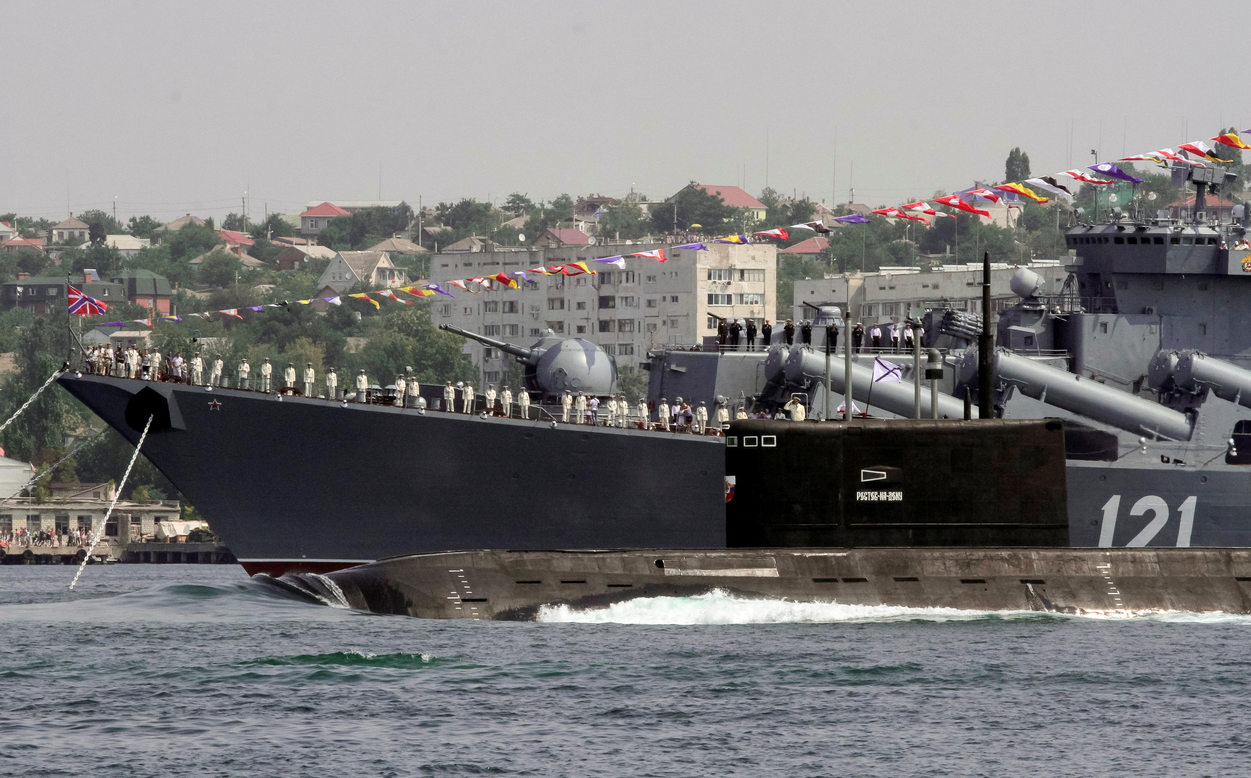 Submarine in Crimea