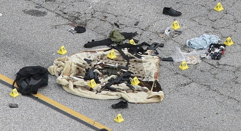 Weapons and evidence of San Bernardino shooting