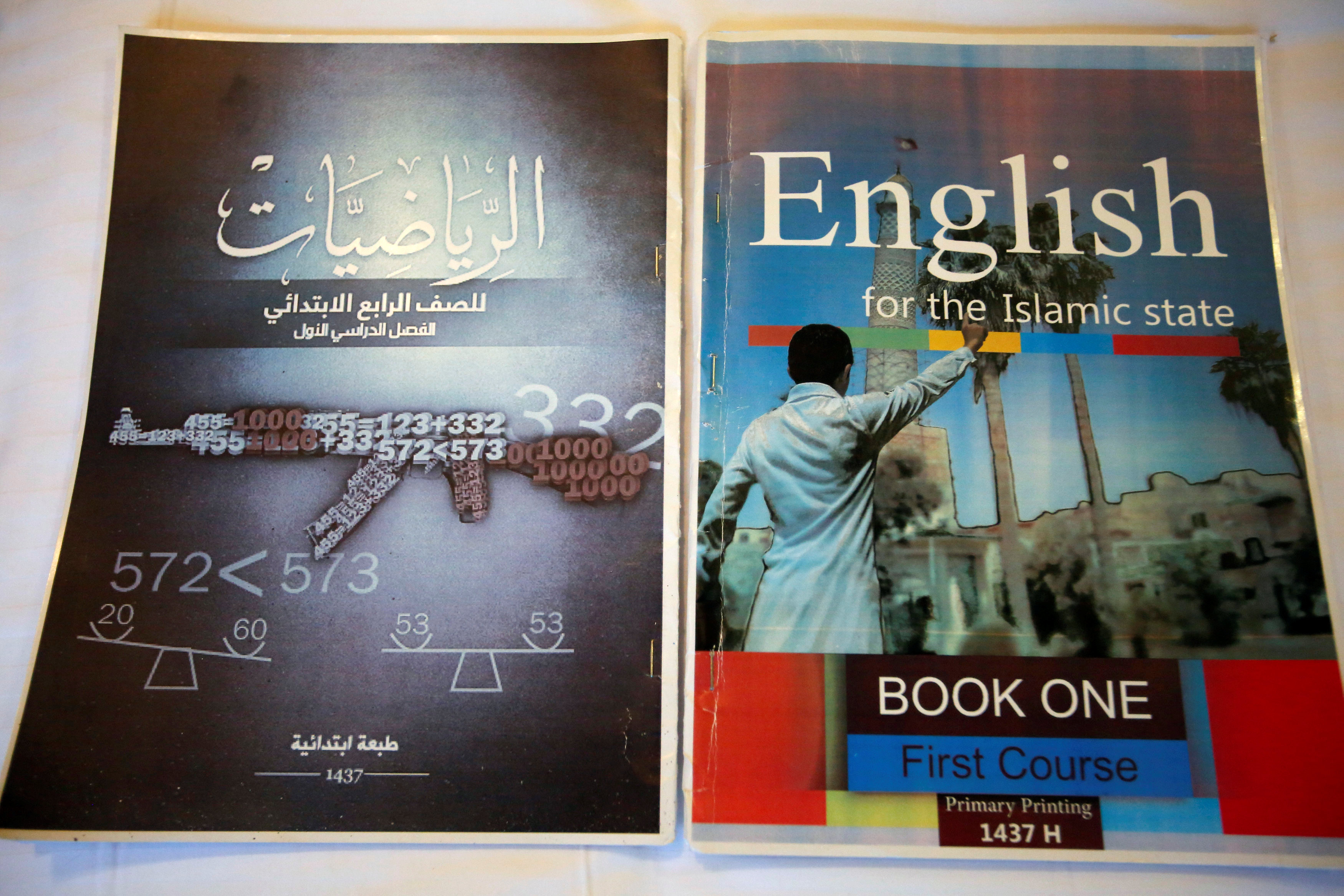 Math and English textbooks found in Islamic State facility that trained children