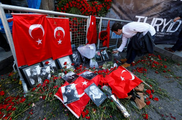 memorial for nightclub attack victims in Istanbul Turkey