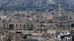 A view shows the damage in the Old City of Aleppo as seen from the city's ancient citadel, Syria January 31, 2017. REUTERS/Omar Sanadiki