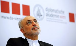 "Head of the Iranian Atomic Energy Organization Ali Akbar Salehi attends the lecture ""Iran after the agreement: Hopes & Concerns"" in Vienna, Austria, September 28, 2016. REUTERS/Leonhard Foeger"
