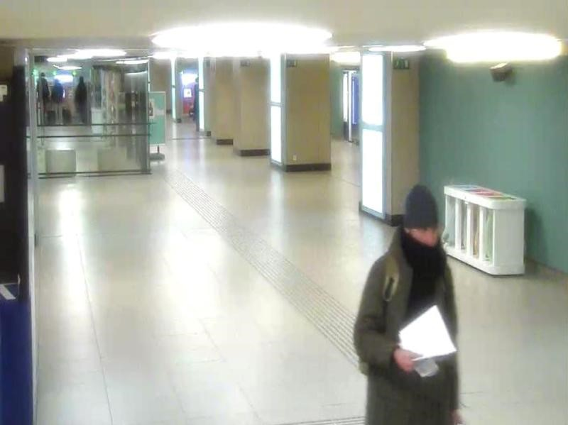 Anis Amri, the Tunisian suspect of the Berlin Christmas market attack, is seen in this photo taken from security cameras at Brussels North train station, Belgium, December 21, 2016. Federal Public Prosecutor's Office/Handout via Reuters.