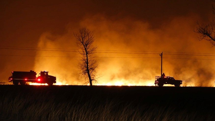 Fires in Colorado and Texas.