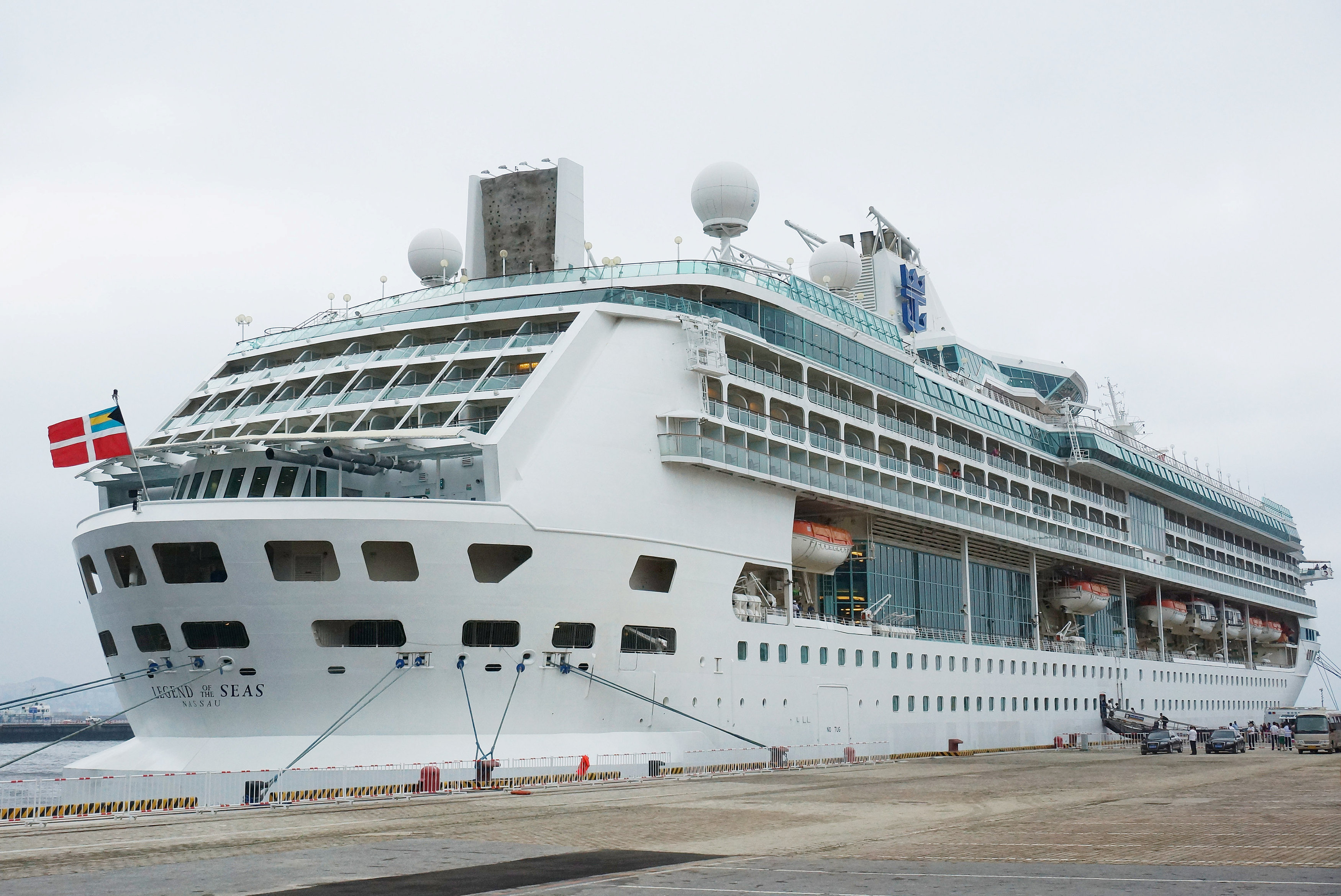 A Royal Caribbean cruise is seen at a port in Dalian, Liaoning province, China, July 20, 2017. Picture taken July 20, 2017. REUTERS/Stringer