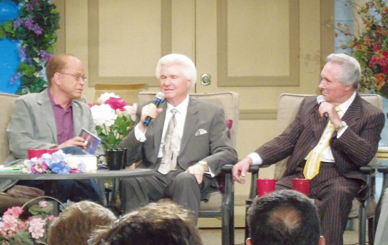 Roger McDuff with Pastor Jim Bakker on stage