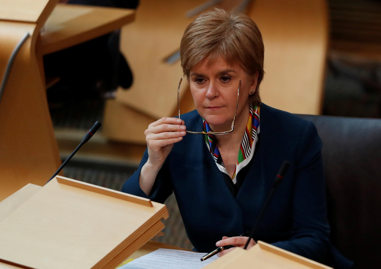 Scotland's First Minister Nicola Sturgeon attends Parliament in Edinburgh, Scotland, Britain March 29, 2017. REUTERS/Russell Cheyne
