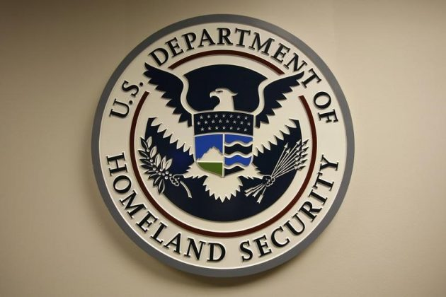 FILE PHOTO: U.S. Department of Homeland Security emblem is pictured at the National Cybersecurity & Communications Integration Center (NCCIC) located just outside Washington in Arlington, Virginia September 24, 2010. REUTERS/Hyungwon Kang