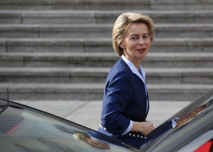 German Defence Minister Ursula von der Leyen in Berlin, Germany, March 22, 2017. REUTERS/Fabrizio Bensch