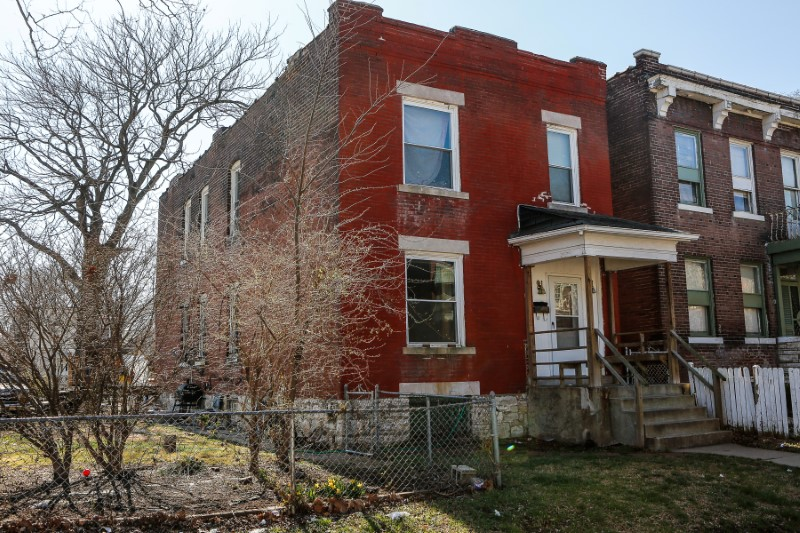 The residence of Juan M Thompson is seen after it was searched by police in connection with his arrest on charges of bomb threats made against Jewish organizations across the United States, in St. Louis, Missouri, U.S. March 3, 2017. REUTERS/Lawrence Bryant