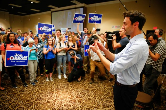 Democratic candidate Jon Ossoff for Georgia's 6th Congressional District special election speaks during an election eve rally in Roswell, Georgia. REUTERS/Kevin D. Liles