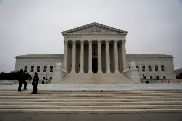 The Supreme Court is seen ahead of the Senate voting to confirm Judge Neil Gorsuch as an Associate Justice in Washington, DC, U.S. April 7, 2017. REUTERS/Aaron P. Bernstein