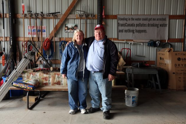 Art and Helen Tanderup are against the proposed Keystone XL Pipeline that would cut through the farm where they live near Neligh, Nebraska, U.S. April 12, 2017. REUTERS/Lane Hickenbottom